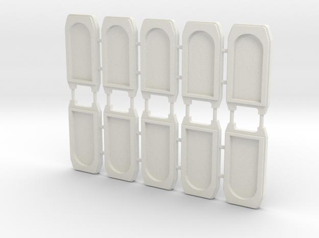 3mm Scale Mk 1 Corridor Connectors in White Natural Versatile Plastic