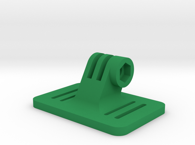 Head & Chest mount for GoPro in Green Processed Versatile Plastic