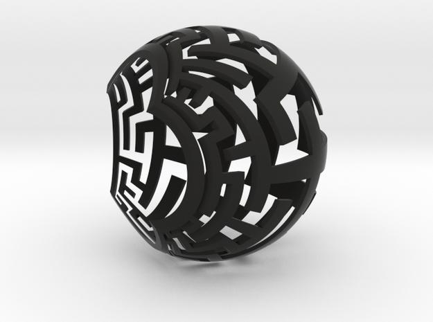 Stereographic Maze Lamp in Black Natural Versatile Plastic