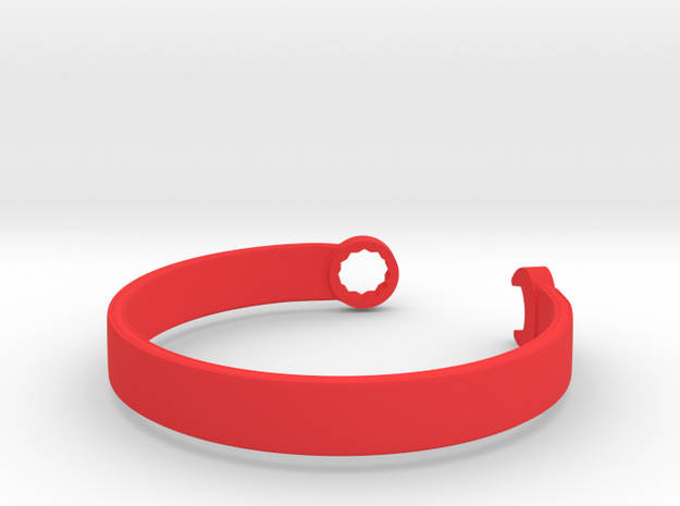 Wrench Bracelet in Red Processed Versatile Plastic