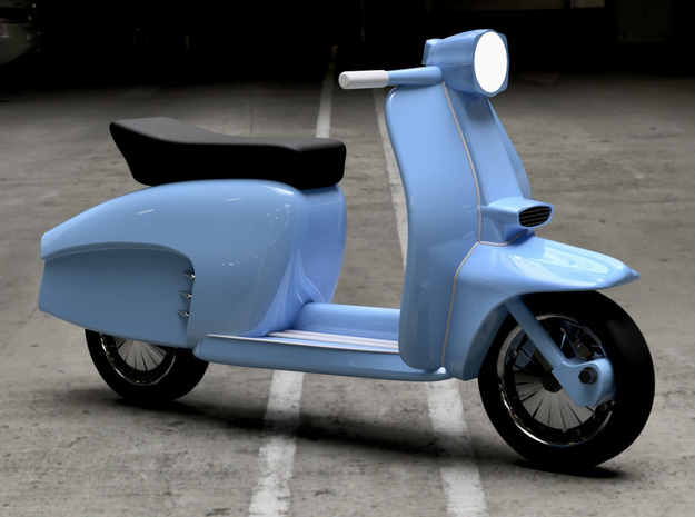 1/64 scale Lambretta Scooters in Smoothest Fine Detail Plastic