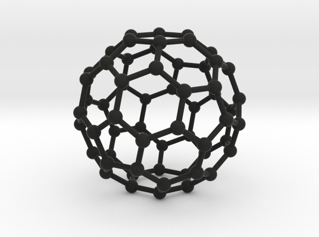 C60 Buckminsterfullerene model in Black Strong & Flexible