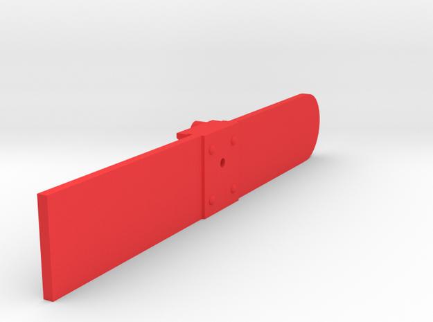 Signal Semaphore Blade Wooden (Square) 1:19 scale in Red Processed Versatile Plastic
