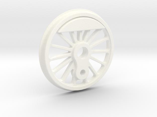 "3/4"" Scale USRA 63"" Small Counterweight Driver in White Processed Versatile Plastic"