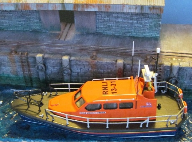 Shannon Lifeboat Deck in White Natural Versatile Plastic