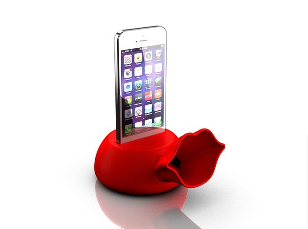 Speaker for iPhone 5s in Red Processed Versatile Plastic