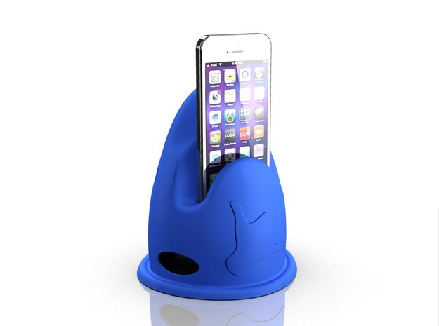Shark - Give me a call - Cradle for iPhone 5 in Blue Processed Versatile Plastic