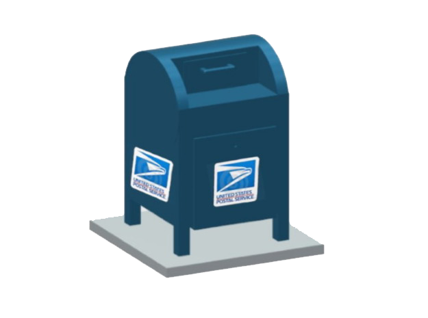 USPS Mailbox-2 (2 ea.) in Smooth Fine Detail Plastic