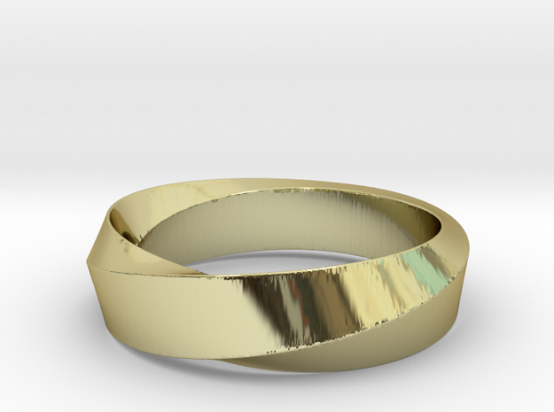Mobius Wide Ring  I (Size  9 1/8) in 18k Gold Plated Brass: Large