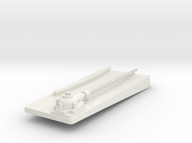 TorpedoTubeElcoPORT20thFrontBase in White Natural Versatile Plastic