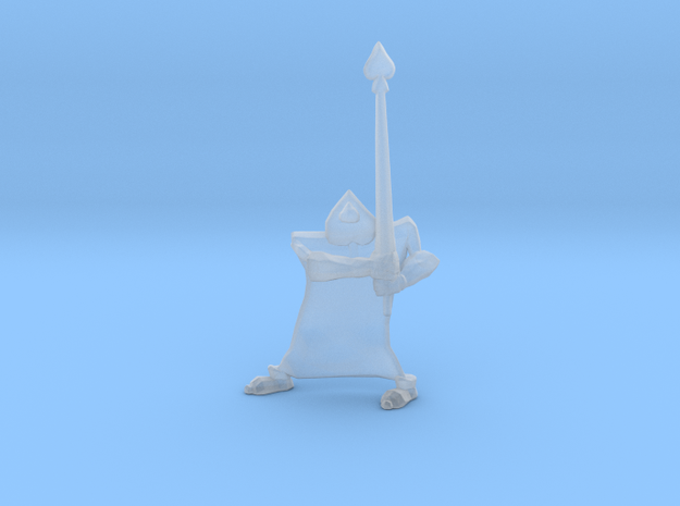 Card Soldier Spade miniature model fantasy rpg dnd in Smooth Fine Detail Plastic