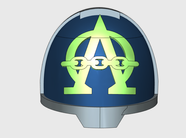 10x Alpha Omega - G:13a Shoulders pads in Smooth Fine Detail Plastic