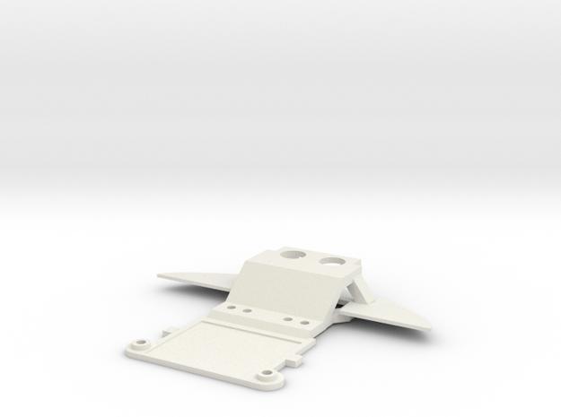 Audi R8 Mini-z front piece in White Natural Versatile Plastic