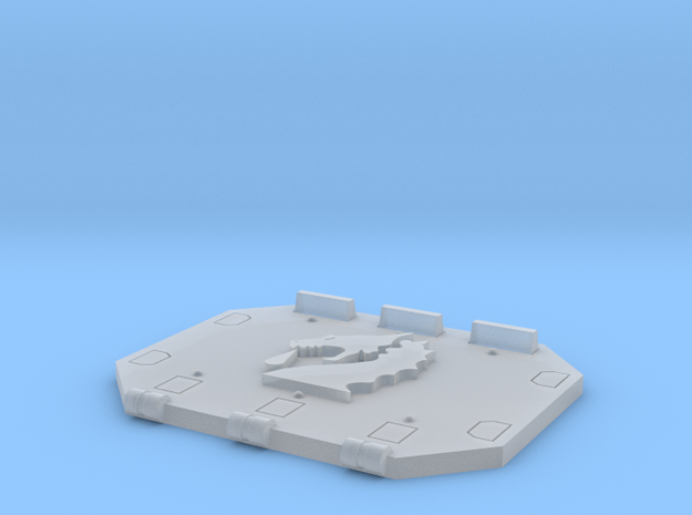 Bloodied Dragons Jericho tank rear hatch in Smooth Fine Detail Plastic