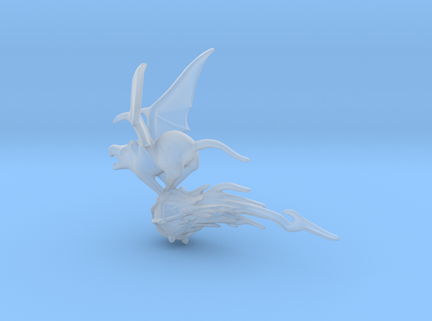 SMALL Flying rat 1 in Smooth Fine Detail Plastic