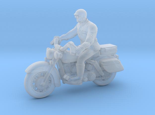 Police Harley Davidson Rider 1:87 HO in Smooth Fine Detail Plastic