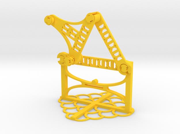 b: 3.53 c: 2.35 f: 2.75 CL: 2.00 CP: 4.25 in Yellow Processed Versatile Plastic
