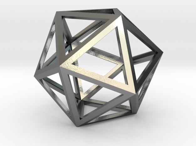 lawal skeletal icosahedron shell  in Polished Silver