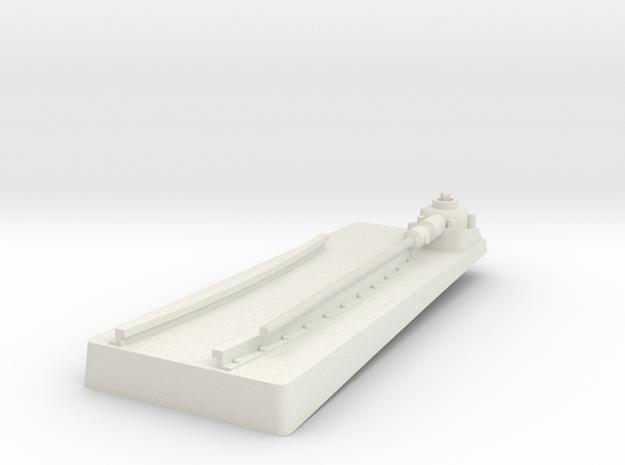 TorpedoTubeElcoSTBD24thFrontBase in White Natural Versatile Plastic