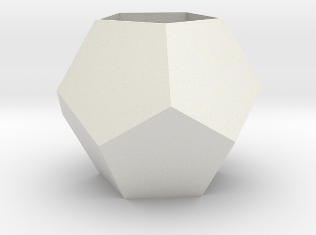 lawal 100 mm dodecahedron shell 2 in White Natural Versatile Plastic