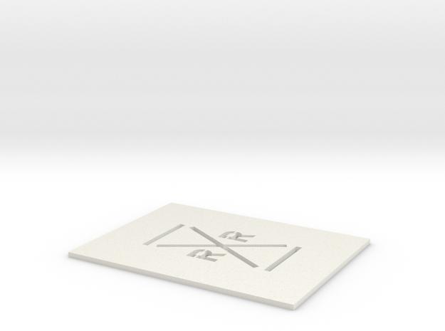 Rail Road Crossing Template - N Scale in White Natural Versatile Plastic: 1:160 - N