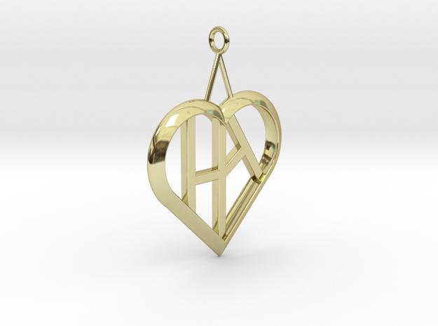 Heart of love pendant [customizable] 3d printed