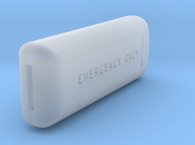 Co2 Bottle handle in Smooth Fine Detail Plastic