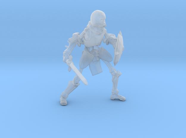 Skeleton Heavy Armor Sword Shield miniature model in Smooth Fine Detail Plastic