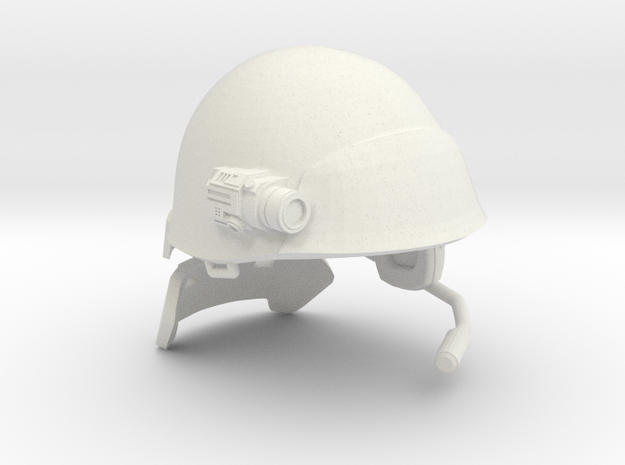 "1/10 scale USCM Helmet for 7"" figures in White Natural Versatile Plastic"