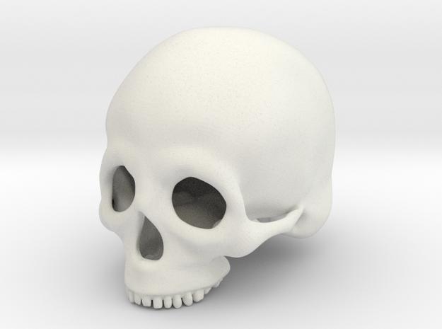 Skull Deko (big) in White Natural Versatile Plastic
