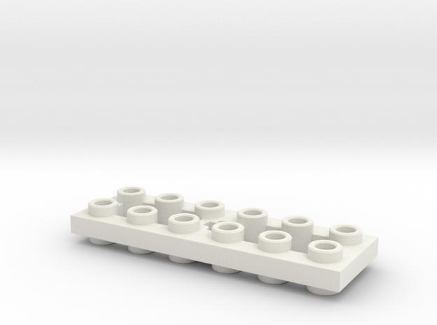 Mirror Plate 2x6 in White Natural Versatile Plastic