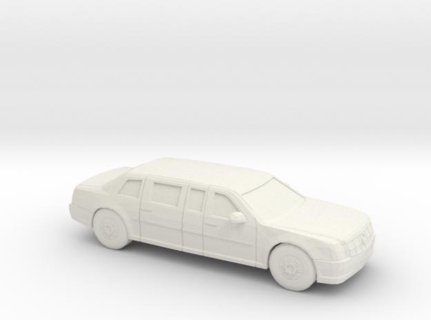 1/72 2009 Cadillac Presidential State Car in White Natural Versatile Plastic