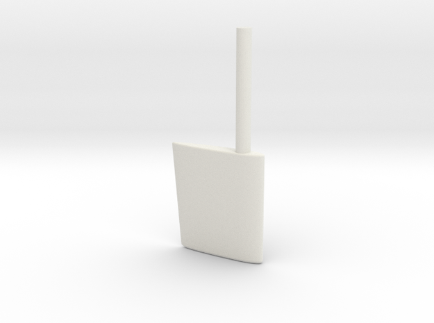SBoot wing rudder 16th in White Natural Versatile Plastic