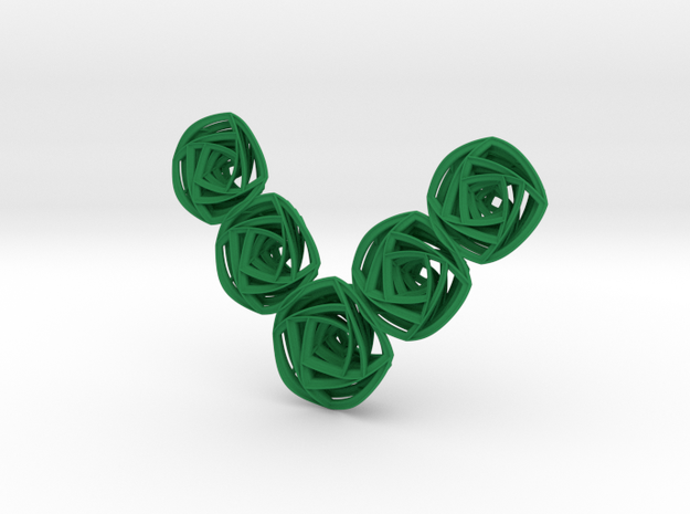 Rose Stripes Necklace 3d printed