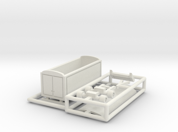 Packwagen 6,5 m - 1:160 (N scale) in White Natural Versatile Plastic