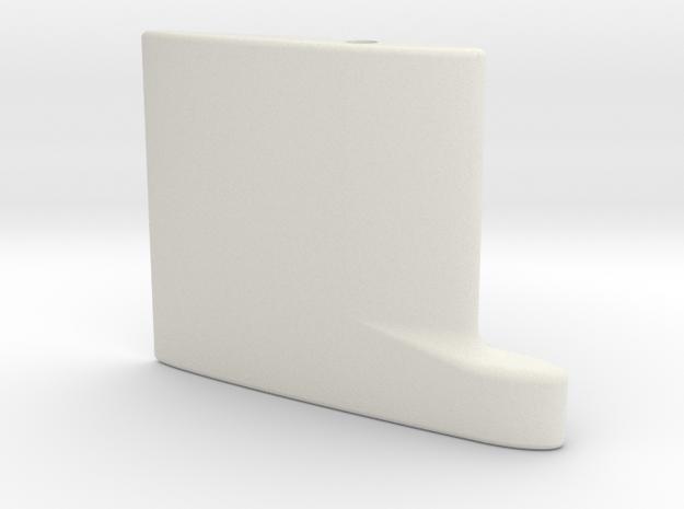 SBoot main rudder 2 20th in White Natural Versatile Plastic