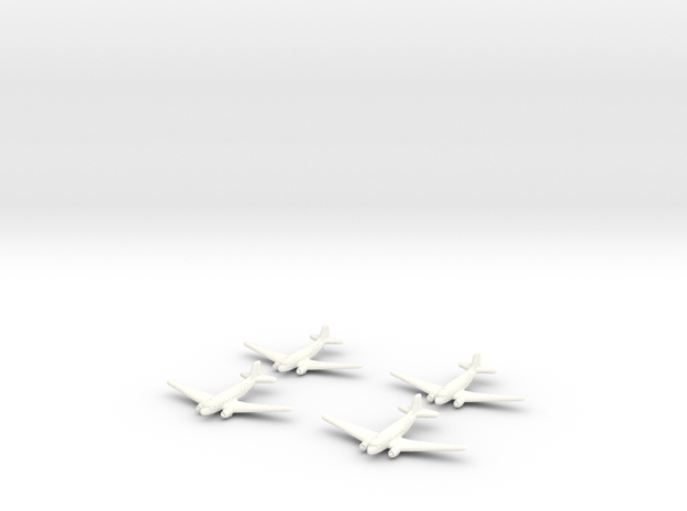 C-47 Skytrain Transport-1/600-(Qty. 4) United Stat in White Processed Versatile Plastic