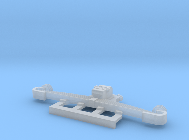 O Gauge LBSCR Large Hanger Sprung Axle  in Smooth Fine Detail Plastic