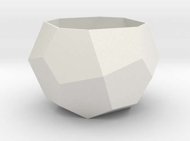 gmtrx lawal Deltoidal icositetrahedron section in White Natural Versatile Plastic