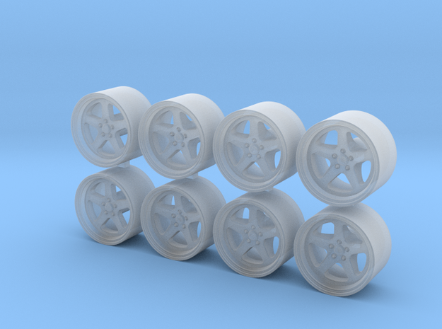 RUF 8.15x5 1/64 Scale Wheels in Smooth Fine Detail Plastic
