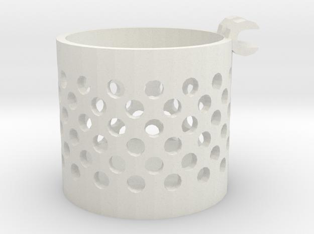 Small Container in White Natural Versatile Plastic
