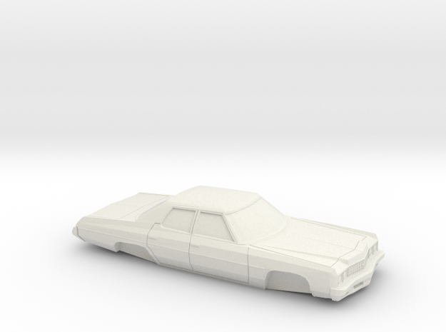 1/64 1973 Chevrolet Impala Sedan Shell in White Natural Versatile Plastic