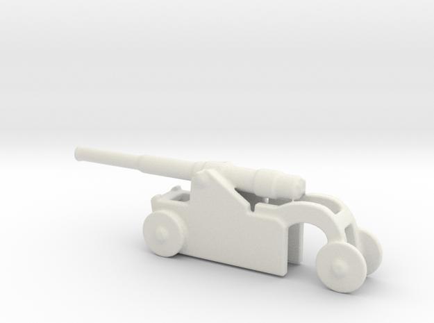 Italian 254mm cannon 1/144 1 in White Natural Versatile Plastic