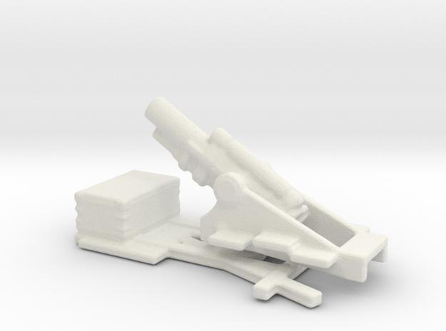 bl 12 inch  MK 1 siege howitzer 1/286 6mm  in White Natural Versatile Plastic