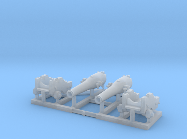 2 X 1/150 Dahlgren IX Smoothbore Cannon in Smoothest Fine Detail Plastic