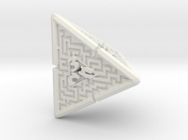 4 Sided Maze Die V2 in White Natural Versatile Plastic