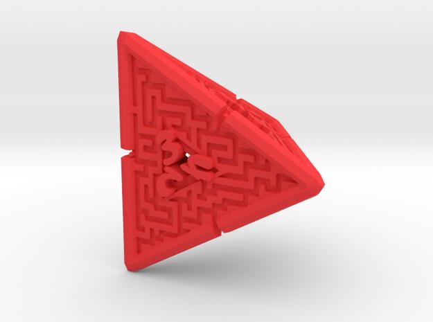 4 Sided Maze Die V2 3d printed