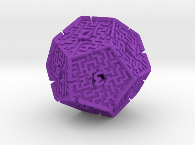 12 Sided Maze Die V2 3d printed