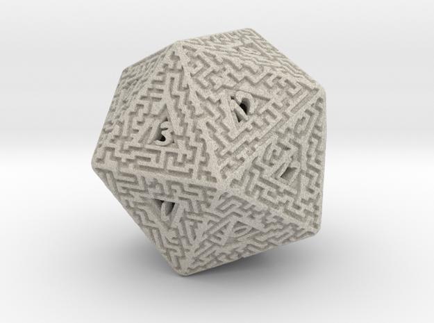 20 Sided Maze Die 3d printed