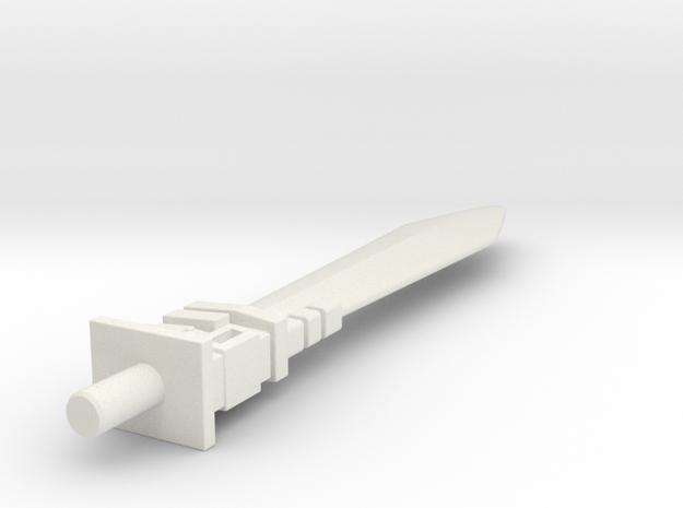 Grimlock SS86 Sword in White Natural Versatile Plastic